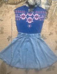 Джинсовая юбка от new look , m