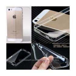 Ультратонкий силиконовый тпу чехол для iPhone 5  5S