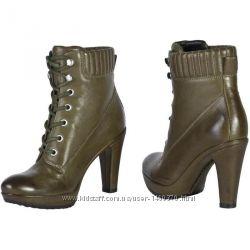 Ecco. оригинал. кожа 100. ботинки, ботильени. 41 рр