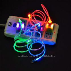Светящийся шнур  USB- micro USB
