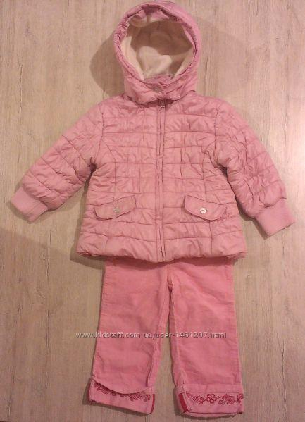 деми курточка на флисе и штанишки, на 1, 5-2 годика