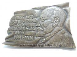 СССР коммунизм Польша редкий Ленин пропаганда барельеф 0, 5кг