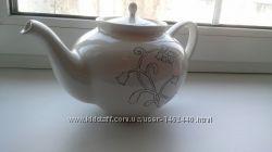 Керамический чайник с рисунком от икеа