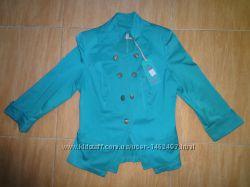 Пиджак деловой стиль бирюзовый