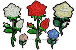 Аппликации, патчи на ткань розы цветы