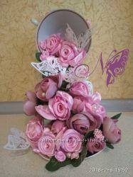 Парящая чашка Первый поцелуй цветы ручной работы