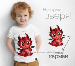 Дизайнерские футболки для мальчиков с потайным карманом