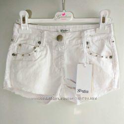 Джинсовые шорты для девочки 12, 14, 16 лет, Gaialuna Италия