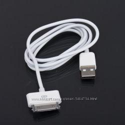USB кабель зарядки  для 30-Pin Apple iPhone 3, 4, iPad, iPod