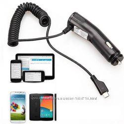 Автомобильное зарядное устройство Samsung 5V1A micro usb кабель