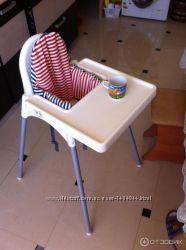 Устойчивый стульчик для кормления со столешницей
