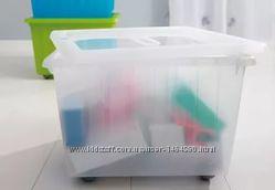 Цветные контейнеры для хранения игрушек икеа Вессла