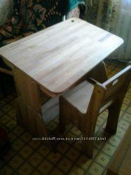 Парта со стулом натуральное дерево с 1 до 4 класса