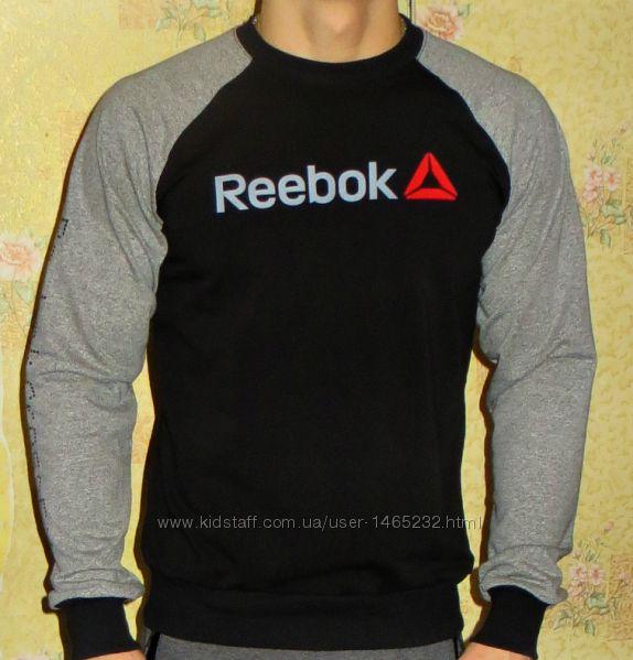 Коллекция свитшот - реглан Reebok CrossFit комбинированный.