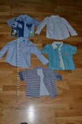 Детские летние рубашки на возраст 1-3 года бу