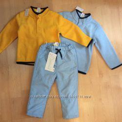 Новая флисовая кофта и термо-штаны на рост 86, С&А