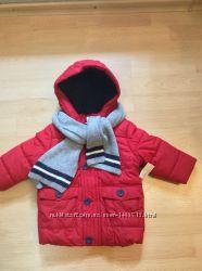 Новая куртка с шарфом на рост 74, baby club