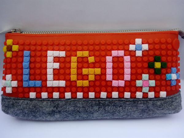 Пеналы, сумочки-конструкторы с пикселями.