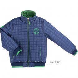 Куртка Verscon двухсторонняя синяя и зеленая р. 128, 134