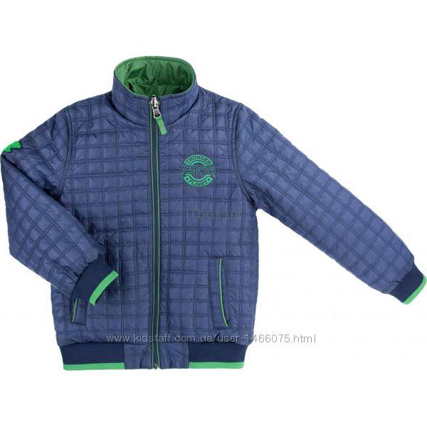 Утеплённая двухсторонняя куртка-ветровка тм Verscon  р. 128.