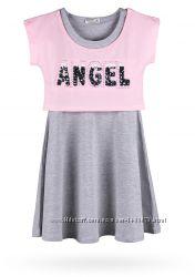 Стильный комплект - платье с топом для девочки от 6-и до 12 лет.
