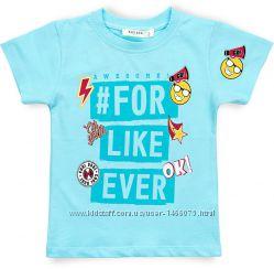 Симпатичная футболка со смайликами для мальчика от 2 до 6 лет.