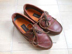 Timberland оригинал кожаные топсайдеры мокасины туфли 38 39 размер