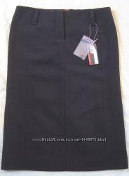 Prada оригинал новая теплая юбка юбка-карандаш 100 шерсть