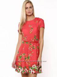 Oasis стильное платье новое с бирками вискоза цветы разм 12 M оригинал