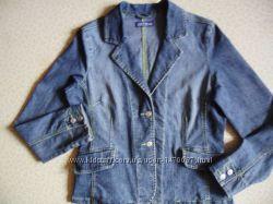 Крутой стильный бренд JSFN женский Пиджак джинс стретч на кнопках 50р