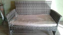 Продам диванчик из искусственного ротанга