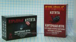 Взрывные катята Exploding Kittens плюс дополнительные 4 карты pnp