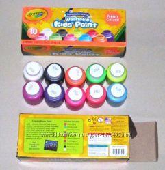 Яркие смываемые краски Crayola Крайола Neon Colors
