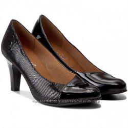 Туфли из натуральной кожи немецкого бренда Caprice черные, р. 39, 40