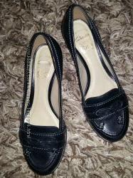 Кожаные туфли Clarks шкіряні туфлі