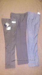 Школьные брюки, штаны зауженные с тефлоновым покрытием