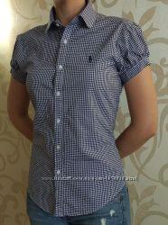 Рубашка в синюю клетку Ralph Lauren