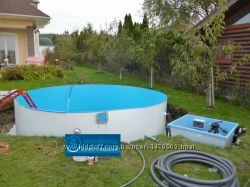 Сборный каркасный круглый бассейн Милано