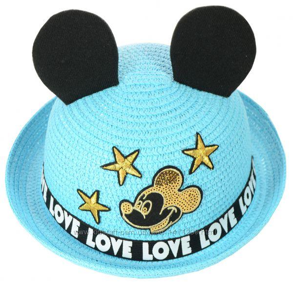 Шляпы соломенные с ушками на мальчиков