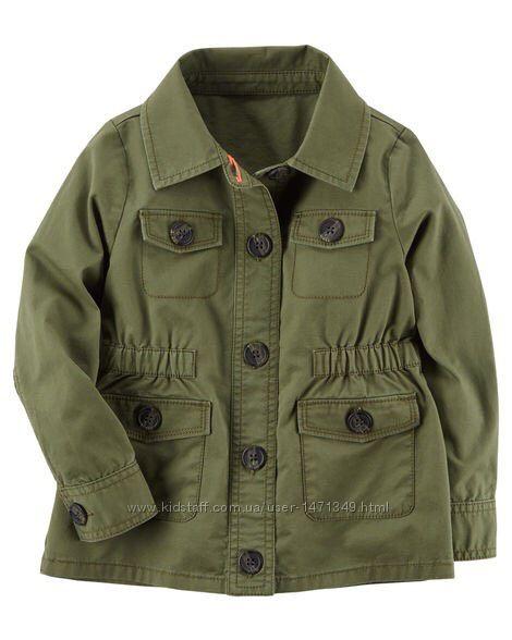 Твиловая куртка для девочки Carters 5T