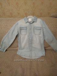 Новая джинсовая рубашка на подростка рост 158-164 см. Kiabi . Франция
