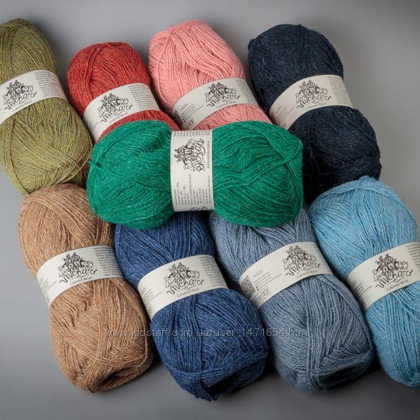 Пряжа Vivchari Colored Wool - недорогая зимняя пряжа для вязания