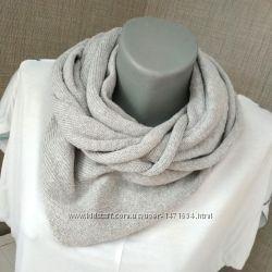 Шаль-косынка из хлопка - вязаный шарф
