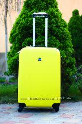 Большой желтый чемодан Супер цена Мятный большой чемодан Киев доставка