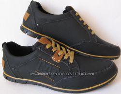 Стильные весенние мужские кожаные туфли CAT  Caterpillаr
