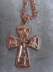 Комплект ТЮСО цепочка браслет крестик позолота 750