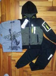 Стильный, классный спортивный костюм-тройка, мальчик 4-12лет. ВенгрияSEAGUL