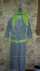 Велюровый костюм для девочки Зайчик