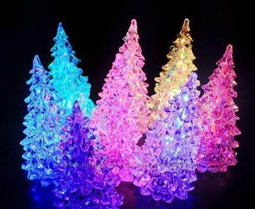 Светящаяся елка, снеговичек минисветильник, подарок, Новый год