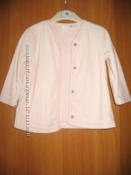 велюровый пиджачок  на подкладке на 6-12 месяцев